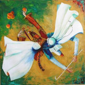 Palestinian artist ..Yasser Abu Sido