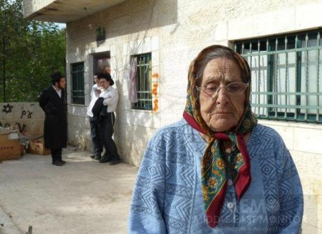 88 year-old Palestinian who was evicted from her home in East Jerusalem
