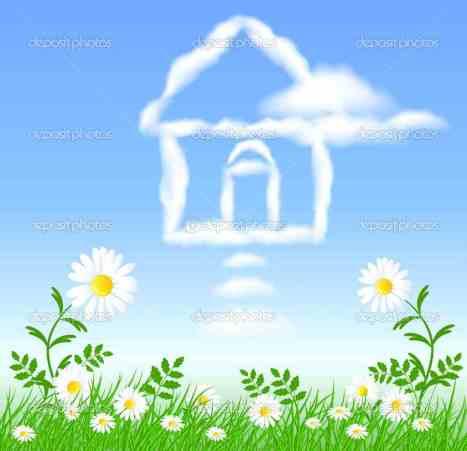 depositphotosq_5237551-House-cloud-and-chamomiles