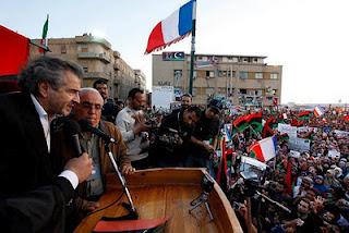 BHL in Benghazi, Libya